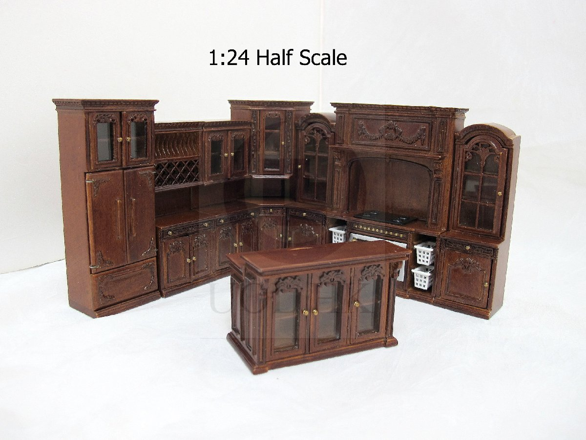 1:24 HALF Scale Miniature French Provincial Kichen [ WN ]