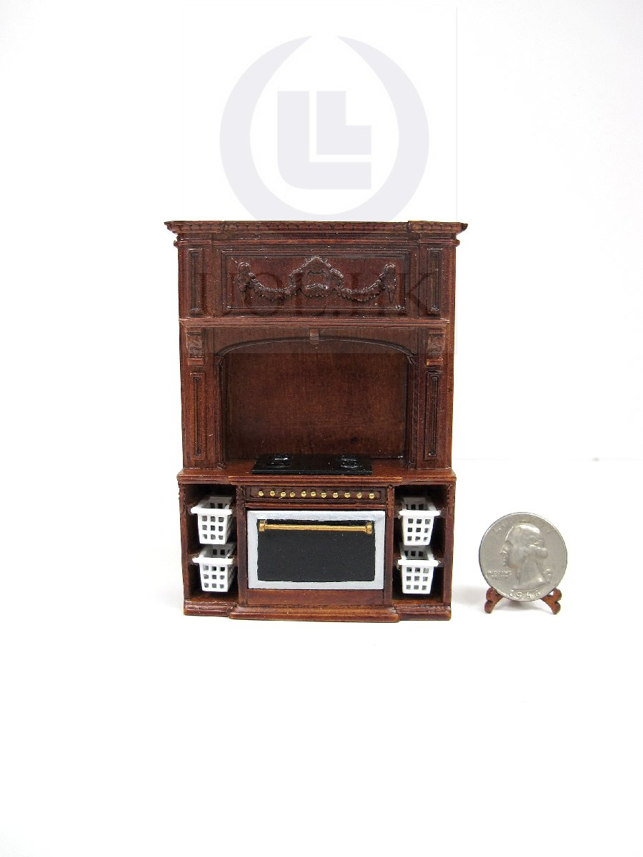 1:24 Scale French Provincial Glamorous Stove Cabinet[Walnut]