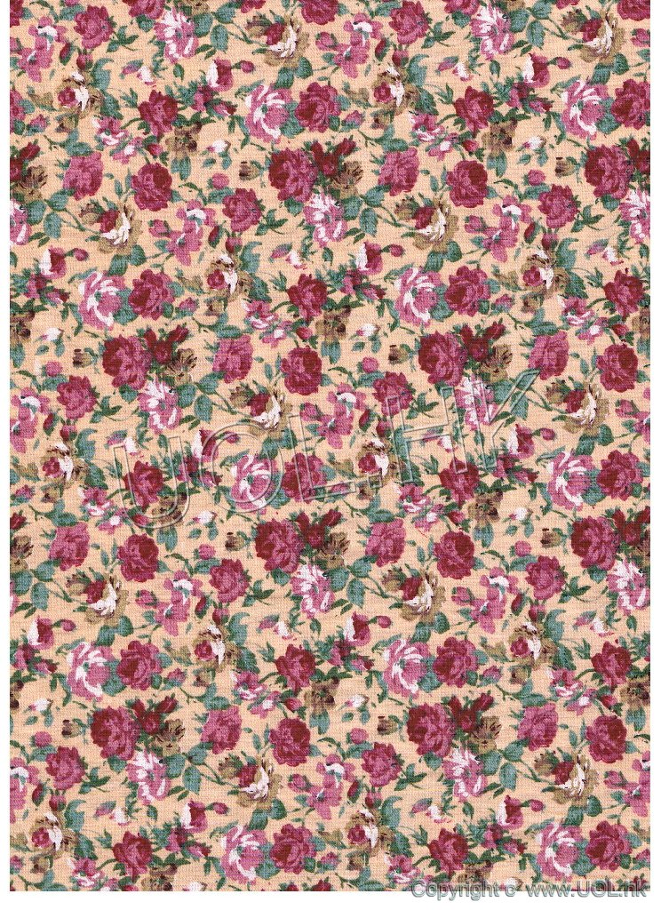 Rose Fabric for doll house