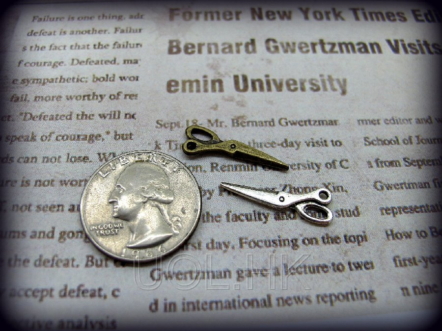 "1""Scale Miniature Metal Scissors -A pair"